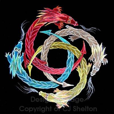 Cj shelton dragon wheel mandala art and life in the - Mandala dragon ...